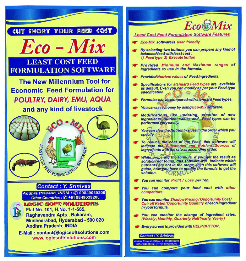 Eco-Mix Feed Formulation Software